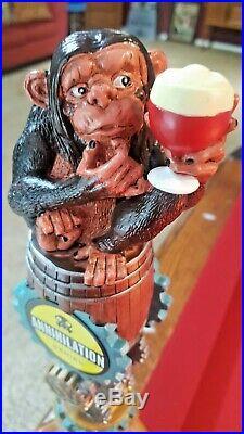 New Strangeways Brewing Baffled Monkey Beer Tap Handle