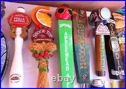 Nice Lot Of 36 Mixed Beer Tap Handles Includes Figurals Inc Corona Stella &more