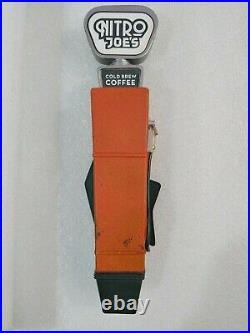 Nitro Joe's Flite Fuel Old Gas Tank Cold Brew Coffee 10.5 Draft Beer Tap Handle