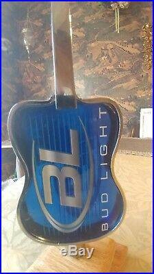 OLD Bud Light House of Blues Guitar Beer Tap Handle