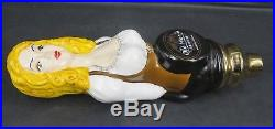 OLD WORLD BEER Figural Blonde Lady Woman TAP HANDLE PORCELAIN CERAMIC ARIZONA