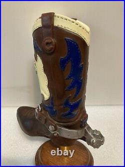 ORIGINAL COORS COWBOY BOOT draft beer tap handle. COLORADO