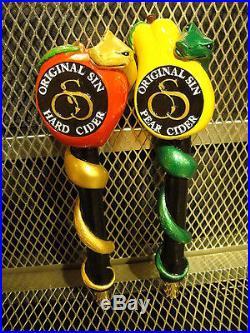 ORIGINAL SIN HARD CIDER SET of 4 Figural SEXY Ladies + NEW Beer Tap Handle