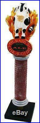 O'Gradys OGradys Chicago Fire Irish American Ale Figural Beer Tap Handle