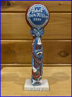 Octopabst Pabst Blue Ribbon Tap Handle, Collectible PBR Art Program 2013