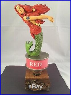 Original Hops Brewery Red Beer Tap Handle Ultra Rare Figural Mermaid Tap Handle