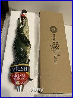 PARISH PILSNER draft beer tap handle. LOUISIANA