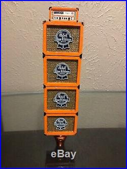 PBR Orange Amp Tap handle Rare Pabst Blue Ribbon
