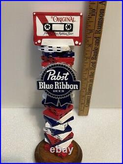 PBR PABST BLUE RIBBON CASETTE JUKEBOX Draft beer tap handle. WISCONSIN