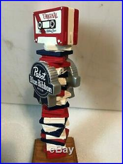 PBR PABST BLUE RIBBON CASETTE JUKEBOX beer tap handle. Milwaukee, Wisconsin