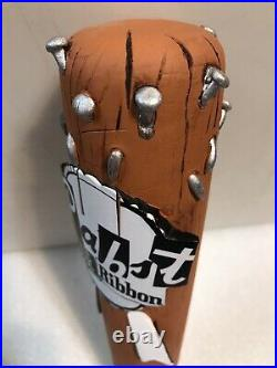PBR. PABST BLUE RIBBON MUSIC CLUB WithNAILS beer tap handle. Milwaukee, Wisconsin