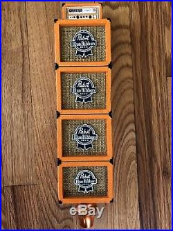 PBR PABST BLUE RIBBON ORANGE AMP STACK art series beer tap handle 12 Tall