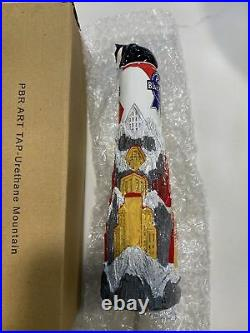 PBR PABST BLUE RIBBON URETHANE MOUNTAIN beer tap handle. New In Box RARE HTF