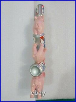 PBR Pabst Blue Ribbon Happy Pink Elephants 11 Draft Beer Tap Handle Mancave