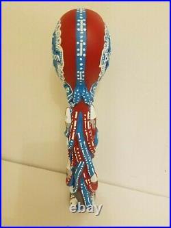 PBR Pabst Blue Ribbon Octopabst Octopus Art NIB 12 Draft Beer Tap Handle Bar Keg