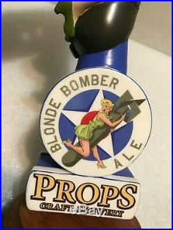 PROPS BLONDE BOMBER ALE beer tap handle. FLORIDA