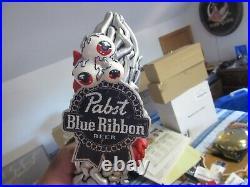 Pabst Blue Ribbon Beer Tap Handle Knob Pbr Art Eye Figural Keg Pull Bar Pub New