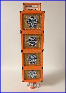 Pabst Blue Ribbon PBR Orange Amps Tap Handle Speaker Art Series NEW F/S 12.25