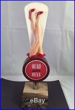 Park Tavern Head Over Heels Beer Tap Handle Rare Figural Girl Beer Tap Handle