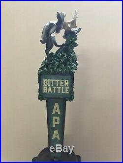Pedernales Bitter Battle Jackalope Rare Figural Beer Tap Handle, Closed Brewery