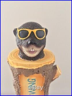 Pontoon Brewing Sunshine Daydream Shady Otter Beaver Log Figural Beer Tap Handle