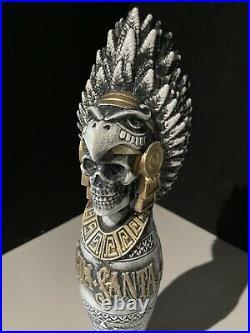 RARE! Agua Santa 10 Skeleton Aztec Warrior Beer Tap Handle lot