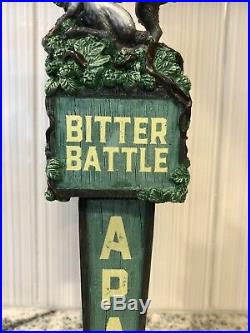 RARE Banned Pedernales Bitter Battle Jackalope Closed Brewery Beer Tap Handle