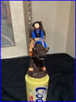 RARE! Coors Banquet Bull Riding Rodeo Beer Tap Handle