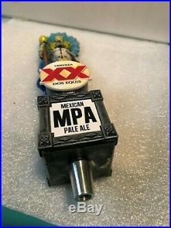 RARE DOS EQUIS XX CERVEZA MEXICAN PALE ALE beer tap handle. Mexico LAST ONE