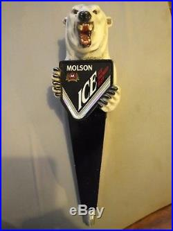 RARE Molson Ice Polar Bear Beer Tap Handle
