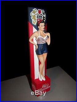 RARE Old Milwaukee Sexy Pin Up Girl Americana Beer Kegerator Tap Handle Bar lot