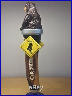 RARE Ottawa Kichesippi Wuchak Black IPA Gopher Beaver Otter Beer Brew Tap Handle