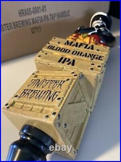 RARE! SINISTER BREWING 11 Mafia Blood Orange IPA Skeleton Beer Tap Handle lot