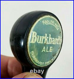 RARE! Vintage Mid Century Bakelite Burkhardt's Ale Beer Tap Handle Knob Top