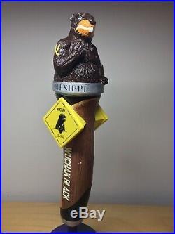 RARE Vintage Ottawa Kichesippi Wuchak Black IPA Beaver Gopher Beer Tap Handle