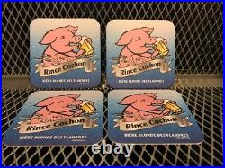 RINCE COCHON BELGIAN STRONG ALE NEW PIG Drinking Beer Tap Handle Coasters