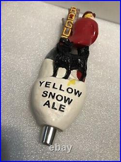 ROGUE YELLOW SNOW draft beer tap handle. OREGON