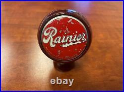 Rainier beer ball knob rare Spokane Washington version tap handle vintage old