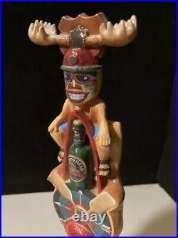 Rare Camp Moosehead Totem pole Canada Beer Tap Handle KegeratorLot