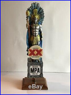 Rare DOS EQUIS XX CERVEZA Warrior Mexican Pale Ale Beer Tap Handle Used