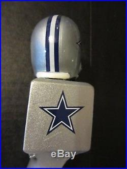 Rare Miller Lite Dallas Cowboys Football Helmet True To Texas Beer Tap Handle