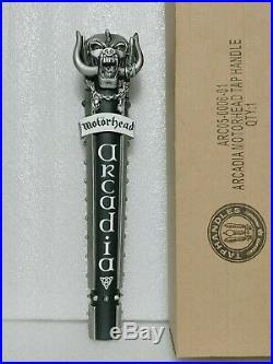 Rare Motorhead Arcadia NOS Rock Roll 12 Draft Beer Keg Bar Tap Handle CLOSED