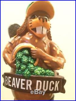 Rare NIB Beaver Duck Sleeping Giant Tap Handle