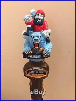 Rare Sleeping Giant Brewing Northern Logger Beer Tap Handle
