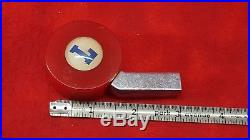 Rare Vintage LEISY'S Beer Tap Handle Knob Cleveland Ohio Red And Chrome