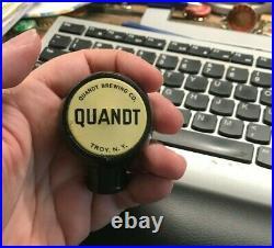 Rare Vintage Quandt Beer Ball Tap Knob / Handle Quandt Brewing Co Troy Ny