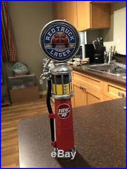 Red Truck Beer Old Gas Pump Tap Handle 11.5! Original Beer! Rare! Man Cave