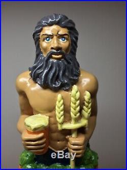 Riptide Brewing Poseidon IPA Zeus King of the Mermaids Figural Beer Tap Handle