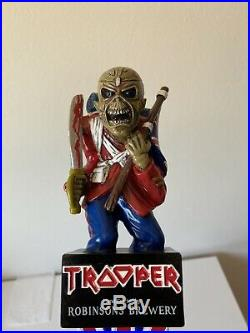 Robinsons Brewery Official Iron Maiden The Trooper Eddie Beer Tap Handle Rare