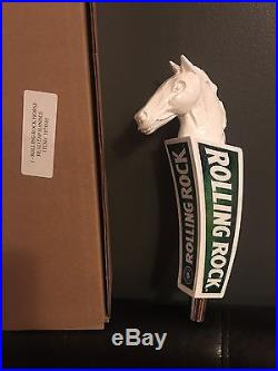 Rolling Rock Pale Ale Horse Head Beer Tap Handle 9 Tall Brand New In Box RARE
